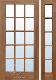 exterior solid mahogany colonial 15 lite french door single pane clear beveled glass mf15cb e
