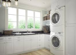 cabinets in laundry room. brilliant white shaker rta cabinets in laundry room n