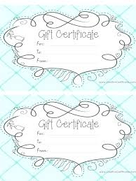 Gift Card Word Template Word Gift Card Template Light Blue Certificate With A Cute