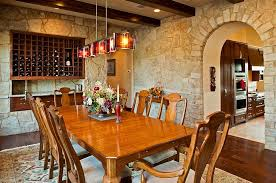 view in gallery mediterranean dining room offer a perfect setting to showcase the beauty of stone walls design