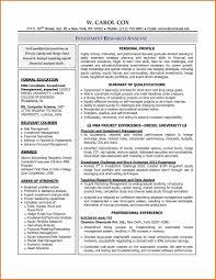 Financial Analyst Resume Keywords Resume Summary Best Financial