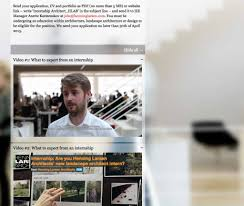 henning larsen praktikanten suche per online video interview video mit einem praktikanten auf der büro website von henning larsen architects