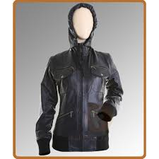 las hooded leather er jacket leather jackets for women uk