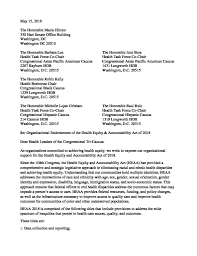 Letter Of Organizational Support For Heaa 2018 Apiahf