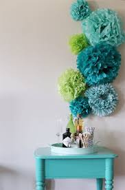 Tissue Paper Flower Wall Art Diy Tissue Paper Pom Poms Backdrop Room Decor Ideas Pinterest