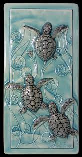 home decor art tile magic in the water baby sea turtles within ceramic plans 2 on art wall tiles ceramic with ceramic art wall tile floor from china stonecontact com for design