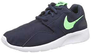 nike running shoes for girls black and white. nike youths kaishi navy synthetic trainers 36.5 eu running shoes for girls black and white