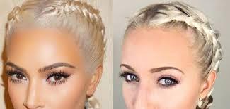 Coiffure Tout Le Monde Veut Les Tresses De Kim Kardashian Grazia