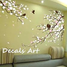 tree wall art decals cherry blossom branches with birds decal vinyl wall sticker wall decal tree  on tree wall art decals vinyl sticker with tree wall art decals photo frame family tree wall decal art stickers