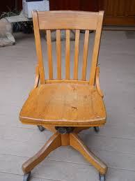 vintage oak armless swivel desk chair oak swivel desk chair mission style