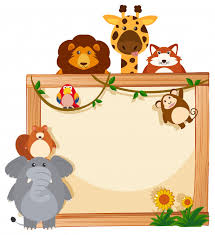 Cute Template Border Template With Cute Animals Vector Free Download