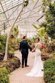colorful socal greenhouse wedding at