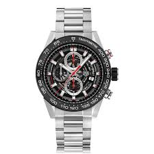 tag heuer carrera car2a10 ba0799 the watch gallery tag heuer carrera automatic stainless steel black dial mens watch car2a1w ba0703