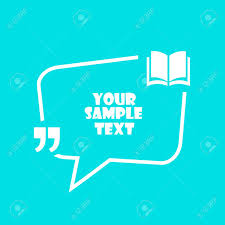 Text Citation Speech Bubble Design On Blue Background