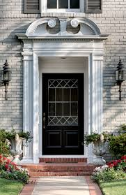 elegant front entry doors. A Beautiful Pair Of Sconces Flank This Grand Front Door Entrance, The Pup Is Nice Accessory, Not Sure If I Love Urns To Left, House Elegant Entry Doors W