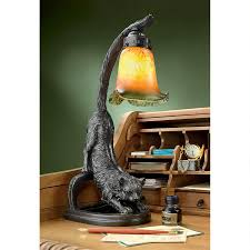 Details About 1930s Antique Replica Feline Cat Stretch Glass Shade Whimsical Kitty Desk Lamp