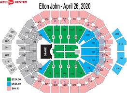 Yum Concert Seating Chart Seating Charts Kfc Yum Center