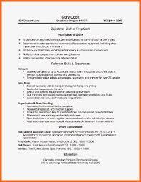 Line Cook Resume Sample Lead Skills Examples Vozmitut