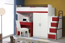 bed with wardrobe.  With Bueno High Sleeper 2 Door Wardrobe Childrenu0027s Bed And A Study Desk On With Wardrobe