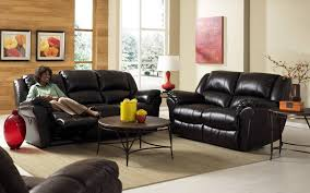 Living Room Black Leather Sofa Adorable Living Room Design With Black Leather Sofa Radioritascom