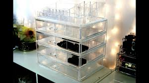clear cube clear acrylic make up storage from t j ma