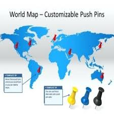 Editable World Map For Powerpoint Powerpoint World Map Editable World Map Powerpoint Template Monster