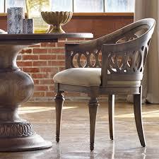 Light Wood Upholstered Dining Chairs Melange Cambria Wood Upholstered Host Chair In Light Wood