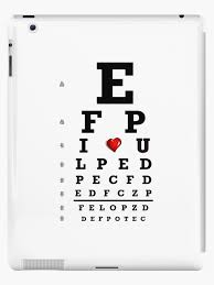 Reading Chart Optometry Eye Chart Optometry Optometrist Love Snellen Vision Ipad Case Skin By Mantisarts