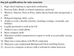 Sales Associate Qualifications Sales Associate Job Description