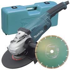 makita angle grinder. makita ga9020kd 240 v 230 mm angle grinder with diamond blade in a carry case: amazon.co.uk: diy \u0026 tools