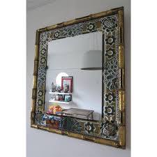 ... crested silver wooden wall mirror for living room ...