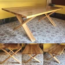 poplar wood furniture. Poplar Wood Table With Cross Legs Furniture B