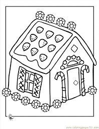 Small Picture Unique Gingerbread House Coloring Page 64 For Coloring Pages