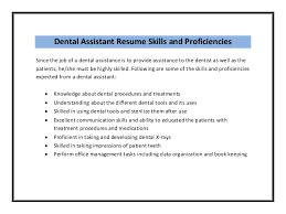 dental assistant resume sample pdf    materials    dental assistant resume