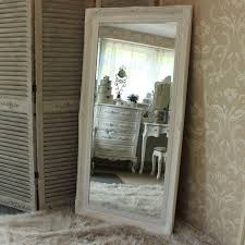 extra large white ornate wall floor mirror 158cm x 78cm
