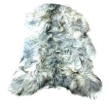 gray faux fur rug grey stunning homey ideas contemporary 8x10 fake rugs area small white