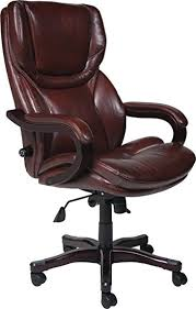 office leather chair. Amazon.com: Serta Bonded Leather Big \u0026 Tall Executive Chair, Brown: Kitchen Dining Office Chair E