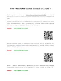 How To Increase Google Scholar Citations Image Segmentation