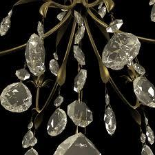 classic chandelier with metal leaves 3d model max obj 3ds fbx mtl 6
