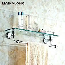 glass bathroom shelf with towel bar glass bathroom shelves glass bathroom shelf with towel bar phenomenal