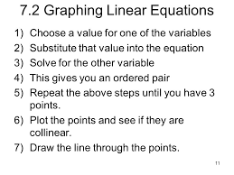 7 2 graphing linear equations