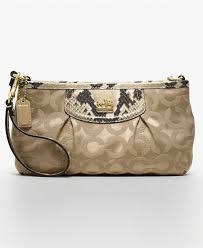 ... COACH MADISON OP ART SATEEN LARGE WRISTLET - Wallets Wristlets -  Handbags Accessories ...