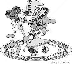 お洒落で可愛い魔法使いの女の子のイラストのイラスト素材 25851057