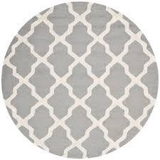 safavieh cambridge silver ivory 6 ft x 6 ft round area rug