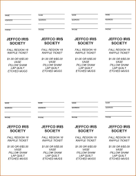 Template For Raffle Tickets To Print Free Raffle Ticket Printing Template Fiddler On Tour