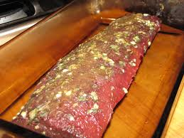 rub both sides of the backstrap place in a cerole drizzle wth a little