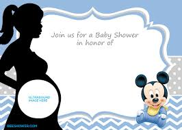Free Printable Baby Mickey Mouse Invitations Free Printable Mickey Mouse Baby Shower Invitation Template Baby