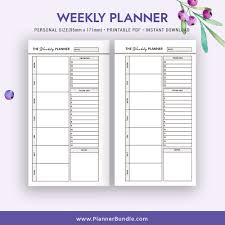 Printable Weekly Planner 2019 Planner Inserts Personal Size Planner Planner Refill 2019 Page Instant Download Planner Pages Planner Design