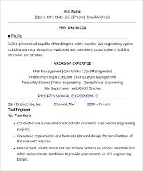 Sample Resume For Fresher Civil Engineer