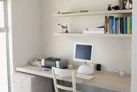 Floating shelf desk Office Desk Horizontal Floating Shelves Are Sleek And Simple Solution For Storing Items Over Desk Home Guides Sfgate Ideas For Shelves Over Desk Home Guides Sf Gate